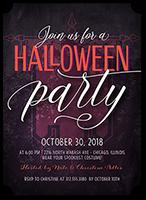 Halloween invitations shutterfly creepy celebration halloween invitation stopboris Image collections