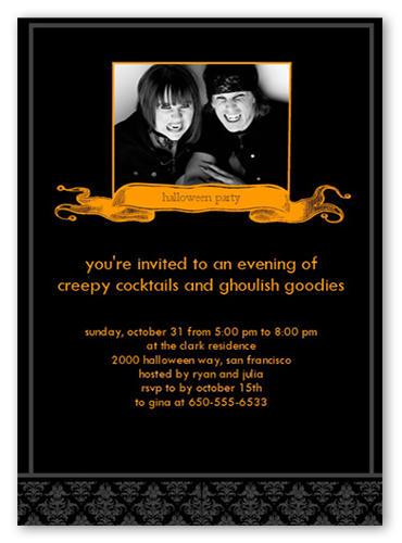 Creepy Cocktails Halloween Invitation