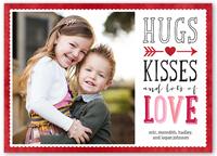 heartfelt message valentines card 5x7 flat