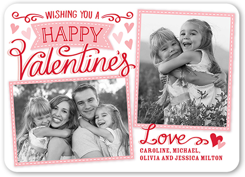 Thoughtful Wishes Valentine's Card, Rounded Corners