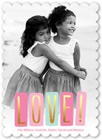 pastel love valentines card 5x7 flat