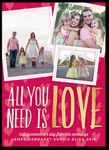 Heartfelt Frames Valentine's Card, Square