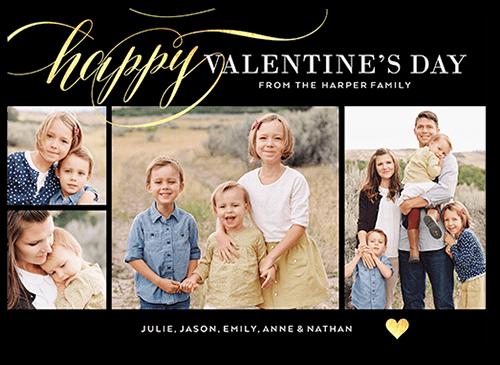 Scripted Romance Valentine's Card, Square Corners