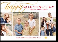 scripted romance valentines card 5x7 flat