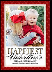 elegant hearts valentines card 5x7 flat