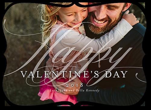 Elegant Love Valentine's Card, Bracket Corners