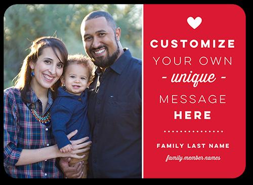 Custom Love Valentine's Card, Rounded Corners