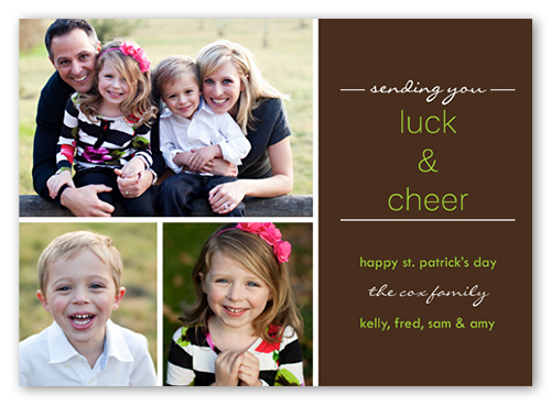 Good Cheer St. Patrick's Day Card