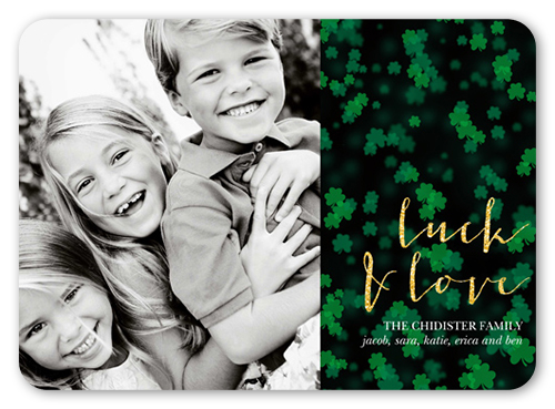 Bokeh Clovers St. Patrick's Day Card