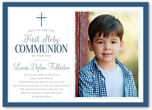 First Communion Invitations Boy Shutterfly