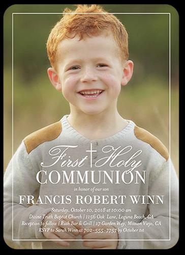 Border Christening Communion Invitation