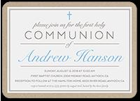 holy elegance boy communion invitation 5x7 flat