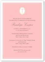 communion cross pink communion invitation 5x7 flat