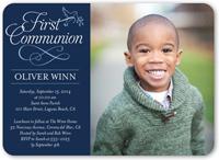 timeless script boy communion invitation 5x7 flat