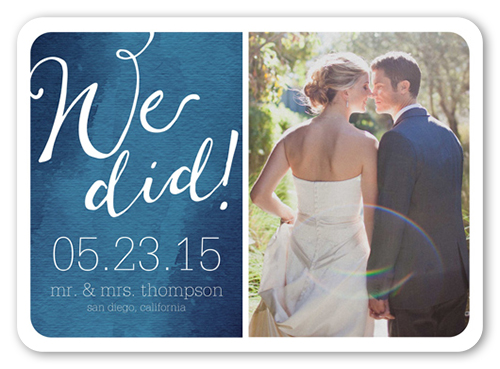 Fantastic News Wedding Announcement, Rounded Corners