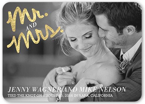 Written Together Wedding Announcement