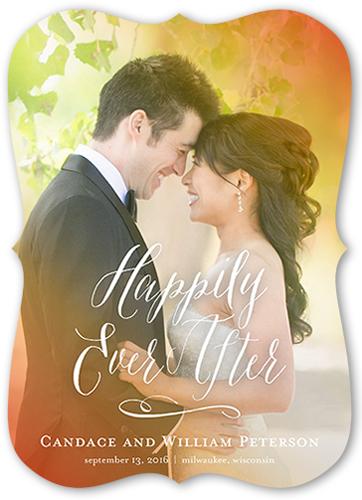 Illuminated Love Wedding Announcement, Bracket Corners