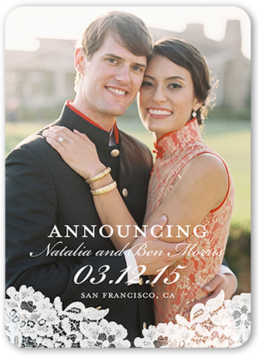 Laced Together Wedding Announcement