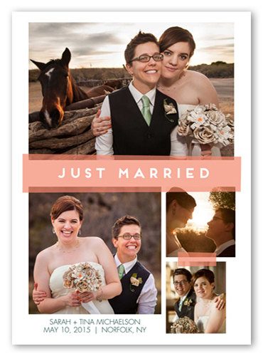 Just Married Tape Wedding Announcement
