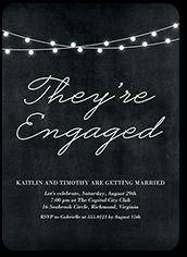 luminous engagement engagement party invitation