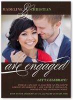 we are engaged engagement party invitation 5x7 flat