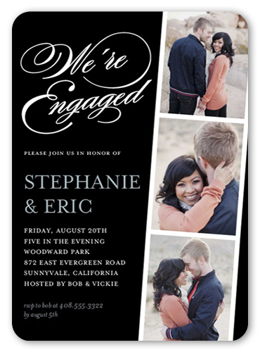 Linked For Life Engagement Party Invitation, Rounded Corners