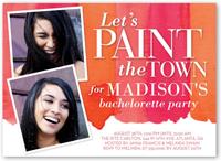 paint the town bachelorette party invitation 5x7 flat