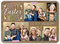 woodgrain wishes collage easter card 5x7 flat