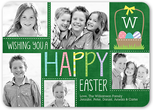 Patterned Happy Easter Card