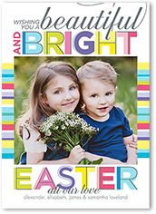 beautiful and bright easter card 5x7 flat