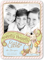 hippity hoppity easter card 5x7 flat