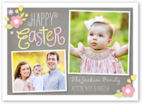 floral embellishments easter card 5x7 flat