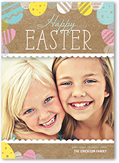 easter egg stamps easter card 5x7 flat