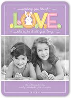 bunny love easter card 5x7 flat