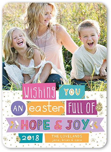 Glitter Word Strip Easter Card