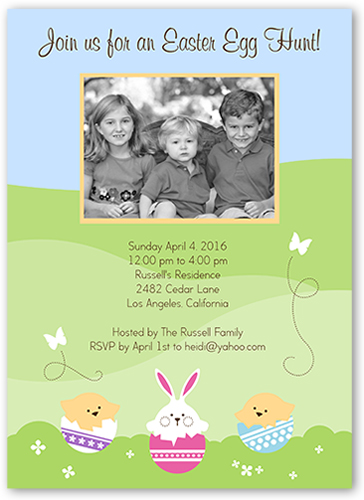 Happy Easter Spirits Easter Invitation, Square Corners