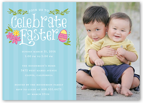 Celebrate Easter Easter Invitation, Square Corners