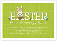 bunny brunch easter invitation 5x7 flat