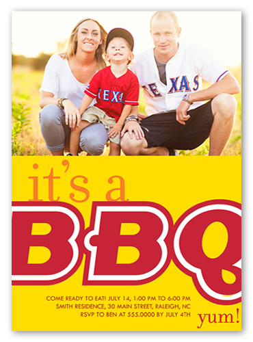 Big BBQ Summer Invitation