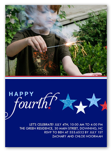 Stars And Stripes Summer Invitation