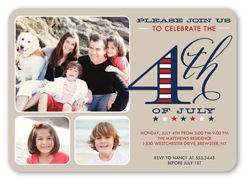 Go Fourth Summer Invitation