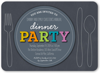 party plate summer invitation 5x7 flat