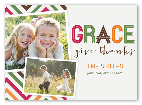 Chevron Grace Fall Greeting