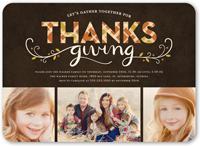 thanksgiving plaid fall invitation 5x7 flat