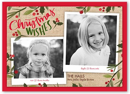 Fantastic Burlap Christmas Card