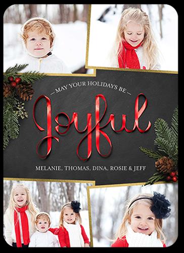 Joyful Ribbon Christmas Card