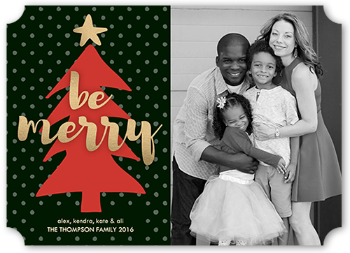 Be Merry Tree Christmas Card