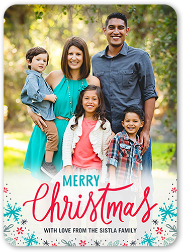 Merry Confetti Flakes Christmas Card