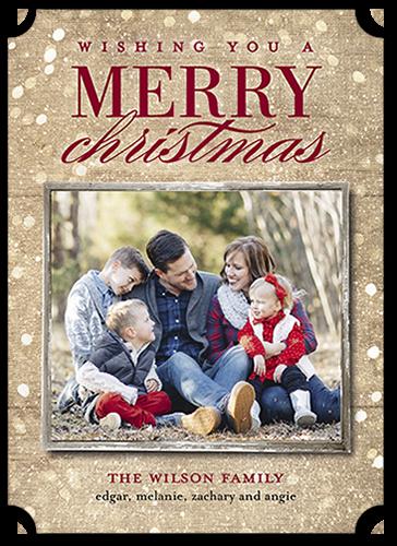 Sparkly Light Christmas Card