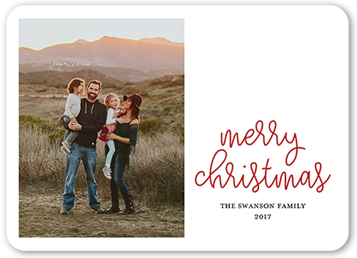 Plain Merry Greeting Christmas Card